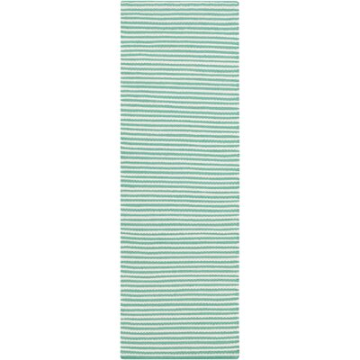 Walton Hand-Woven Ivory/Mint Area Rug Rug Size: Runner 26 x 8