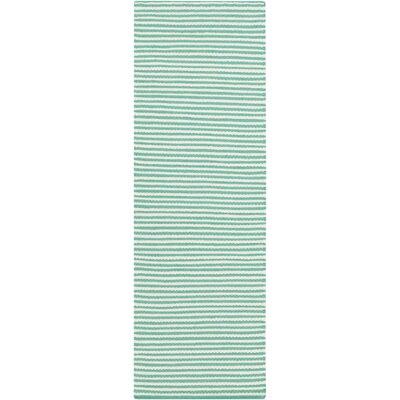 Ravena Hand-Woven Ivory/Mint Area Rug Rug Size: Runner 26 x 8