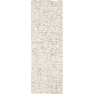 Stencil Ivory Area Rug Rug Size: Runner 26 x 8