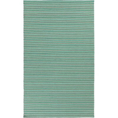 Walton Hand-Woven Aqua Area Rug Rug Size: Rectangle 2 x 3