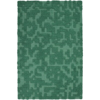 Edmonson Handmade Green Area Rug Rug Size: Rectangle 5 x 8