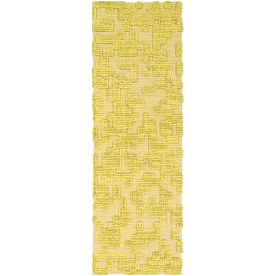 Edmonson Handmade Yellow Area Rug Rug Size: Rectangle 2 x 3