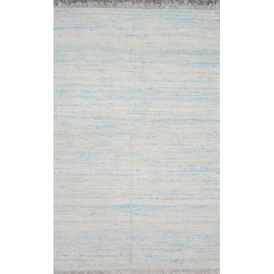 Duquette Bright Blue Area Rug Rug Size: Rectangle 9 x 12