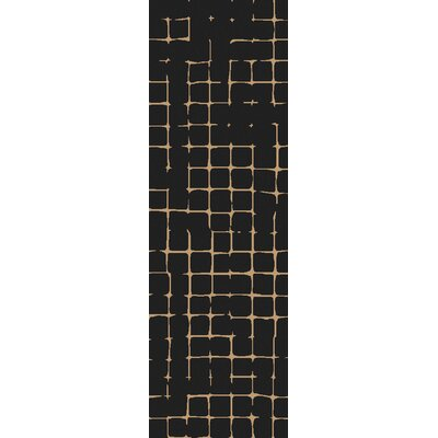 Byers Black Area Rug Rug Size: Runner 26 x 8