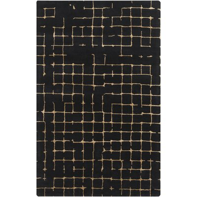 Pursuit Black Area Rug Rug Size: 5 x 8
