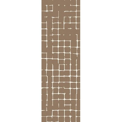 Byers Taupe Area Rug Rug Size: Runner 26 x 8