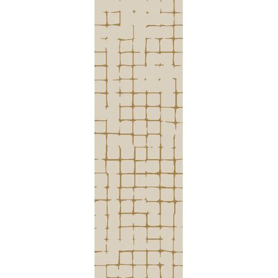 Byers Light Gray/Burnt Orange Area Rug Rug Size: Runner 26 x 8