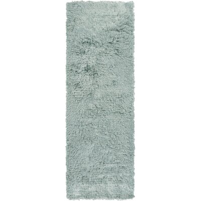Wendi Handmade Light Teal Solid Area Rug Rug Size: Rectangle 8 x 11