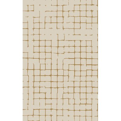 Byers Light Gray/Burnt Orange Area Rug Rug Size: 5 x 8
