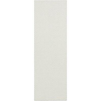 Walton Ivory/Sky Blue Area Rug Rug Size: Runner 26 x 8