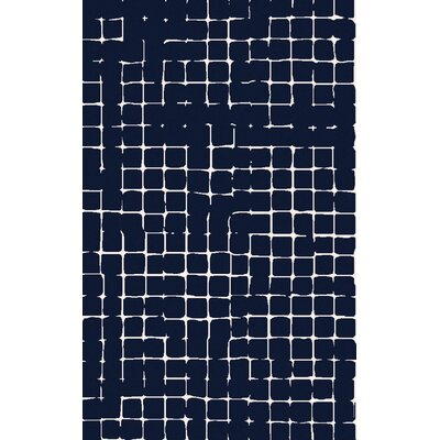 Byers Navy/Gray Area Rug Rug Size: Rectangle 5 x 8