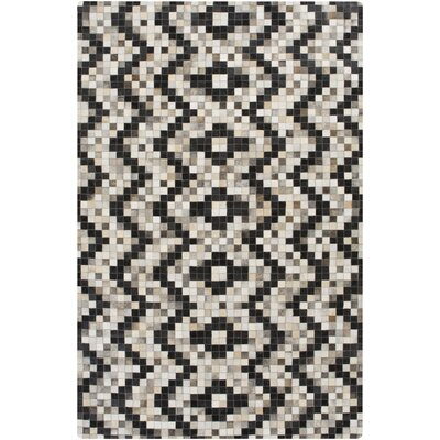 Crescent Black/Gray Area Rug Rug Size: Rectangle 8 x 10