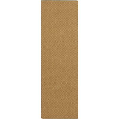 Walton Hand-Woven Wool Gold Area Rug Rug Size: Runner 26 x 8