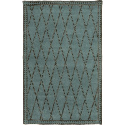 Barnaby Hand-Tufted Aqua/Chocolate Area Rug Rug Size: Rectangle 5 x 8