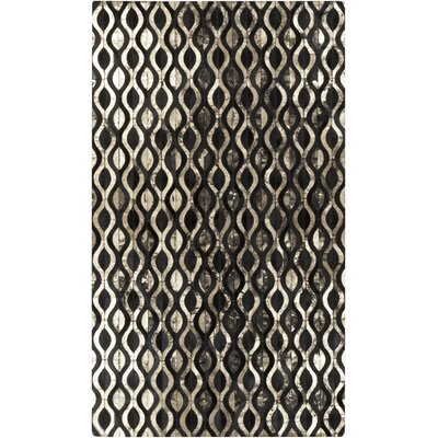Clore Black/Gold Geometric Rug Rug Size: Rectangle 8 x 10