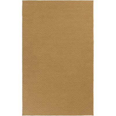 Walton Hand-Woven Wool Gold Area Rug Rug Size: Rectangle 33 x 53