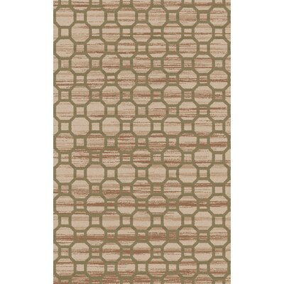 Brentford Mocha / Olive Geometric Rug Rug Size: Rectangle 33 x 53