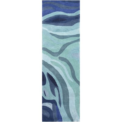 Kaye Hand-Tufted Blue Area Rug Rug Size: Runner 26 x 8