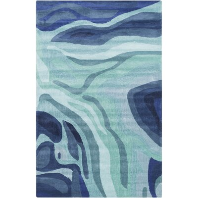 Kaye Hand-Tufted Blue Area Rug Rug Size: Rectangle 36 x 56