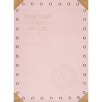 Pastel Pink Area Rug Rug Size: Rectangle 4 x 6