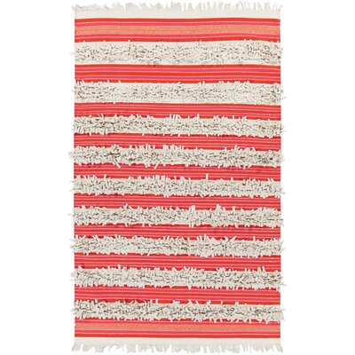 Carissa Beige/Poppy Area Rug Rug Size: Rectangle 4 x 6