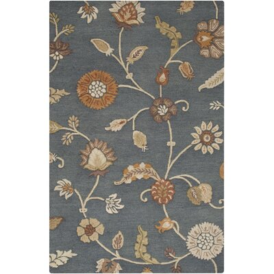 Stowe Gray Floral Rug Rug Size: Rectangle 5 x 8