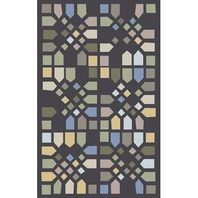 Abrielle Gray Geometric Area Rug Rug Size: Rectangle 5 x 8