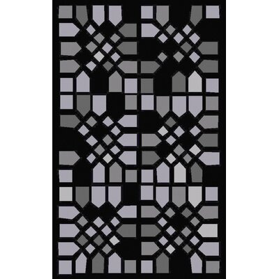 Abrielle Black Geometric Area Rug Rug Size: Rectangle 5 x 8