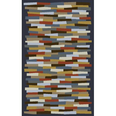 Bowers Hand-Tufted Blue/Gray Area Rug Rug Size: Rectangle 8 x 11