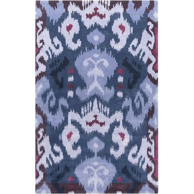 Maura Lavender/Navy Ikat and Suzani Area Rug Rug Size: Rectangle 8 x 11