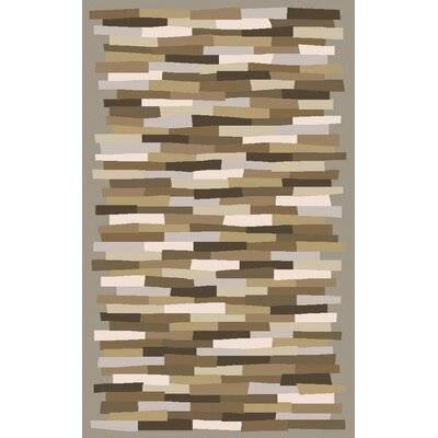 Bowers Brown Hand-Tufted Area Rug Rug Size: 5 x 8
