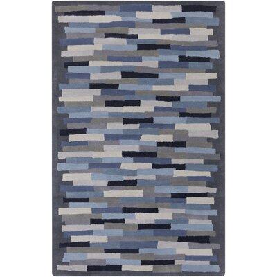 Peerpressure Hand-Tufted Gray/Cobalt Area Rug Rug Size: 5 x 8