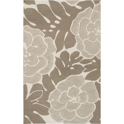 Abigail Olive/Light Gray Area Rug Rug Size: Rectangle 5 x 8