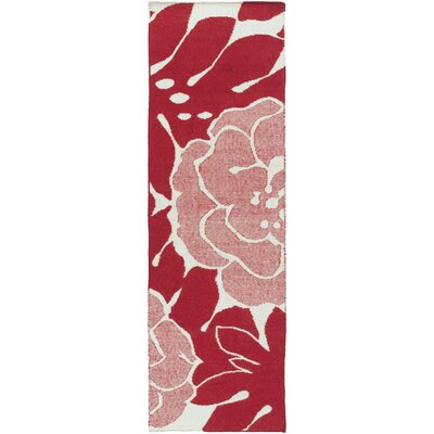 Abigail Cherry Area Rug Rug Size: Runner 26 x 8