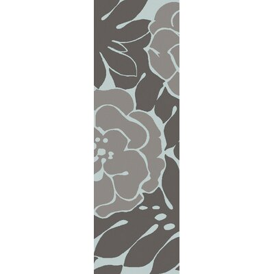 Abigail Charcoal/Slate Area Rug Rug Size: Runner 26 x 8