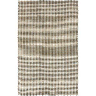 Jaidan Hand-Woven Slate Blue/Tan Area Rug Rug Size: Rectangle 33 x 53