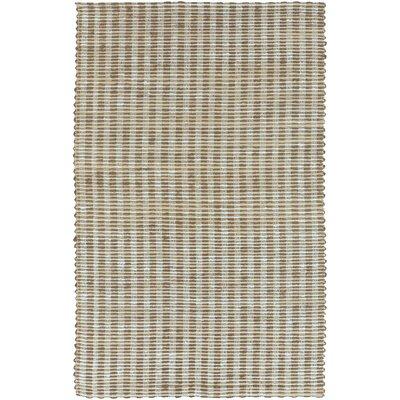 Jaidan Hand-Woven Slate Blue/Tan Area Rug Rug Size: 33 x 53