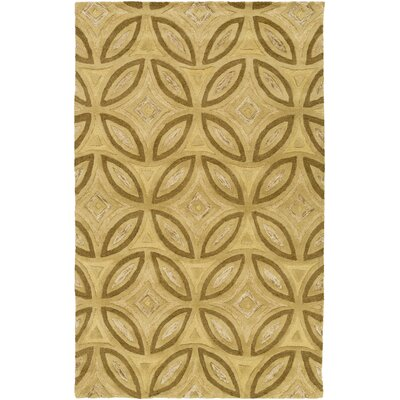 Quinn Gold Geometric Area Rug Rug Size: Rectangle 5 x 8