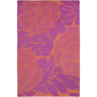 Abigail Hot Pink/Coral Area Rug Rug Size: Rectangle 5 x 8