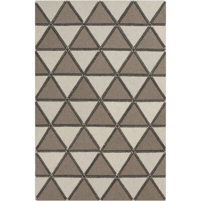 Alexander Taupe & Ivory Area Rug Rug Size: Rectangle 5 x 76