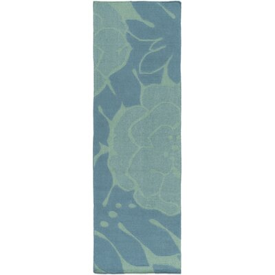 Abigail Teal/Green Area Rug Rug Size: Runner 26 x 8