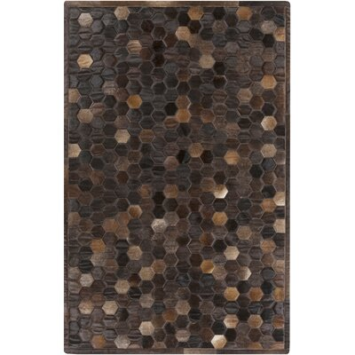 Penelope Brown Area Rug Rug Size: 5 x 8