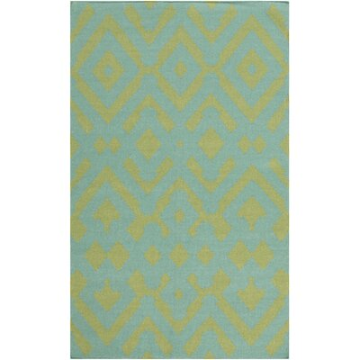 Hemel Teal/Moss Geometric Area Rug Rug Size: Rectangle 8 x 11