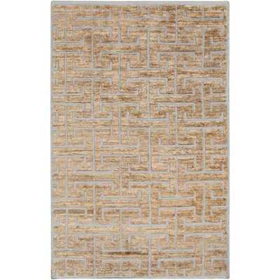 Helston Geometric Mocha Area Ru Rug Size: Rectangle 8 x 11