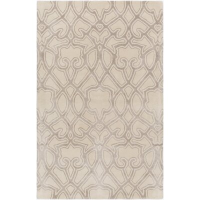 Lennox Hand-Tufted Ivory/Light Gray Area Rug Rug Size: 8 x 11