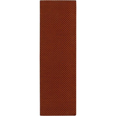 Walton Hand-Woven Wool Burgundy/Rust Area Rug Rug Size: Rectangle 8 x 11