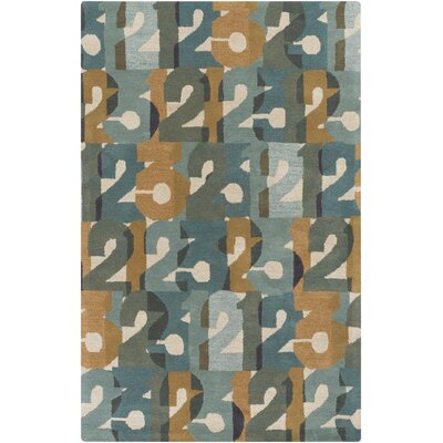 Bowers Hand-Tufted Brown/Green Area Rug Rug Size: Rectangle 5 x 8