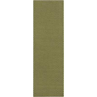Walton Hand-Woven Wool Lime/Olive Area Rug Rug Size: Rectangle 33 x 53