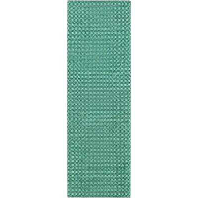 Walton Hand-Woven Wool Green/Aqua Area Rug Rug Size: Runner 26 x 8