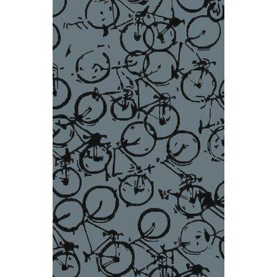 Boles Gray/Black Indoor/Outdoor Area Rug Rug Size: 9 x 12